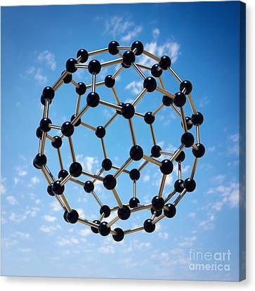 Hovering Molecule Canvas Print by Carlos Caetano