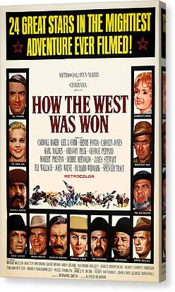 How The West Was Won Movie Poster 1962 Canvas Print by Mountain Dreams