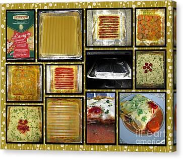 How To Make Your Own Vegan Lasagne Canvas Print by Ausra Huntington nee Paulauskaite