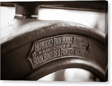Howard Ironworks Canvas Print by Chris Bordeleau