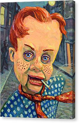 Howdy Von Doody Canvas Print by James W Johnson