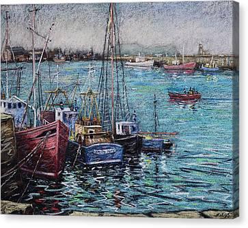 Howth Harbour  Dublin Canvas Print by John  Nolan