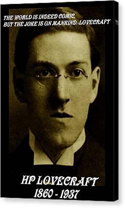 Hp Lovecraft Canvas Print by  Joya