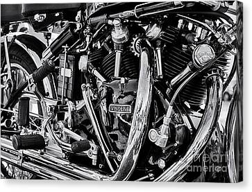 Hrd Vincent Motorcycle Engine Canvas Print by Tim Gainey
