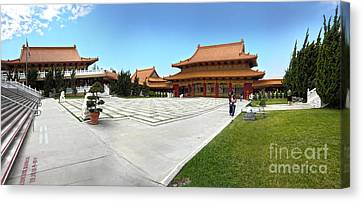 Hsi Lai Temple - 08 Canvas Print by Gregory Dyer
