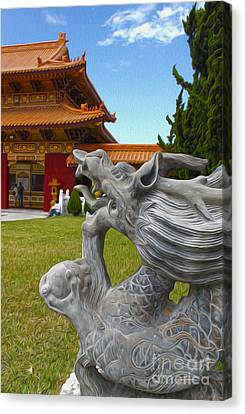 Hsi Lai Temple - 03 Canvas Print by Gregory Dyer