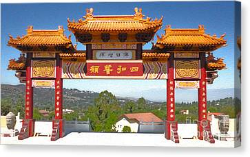Hsi Lai Temple - 11 Canvas Print by Gregory Dyer