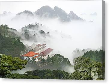 Huangshan National Park Canvas Print by King Wu