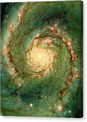 Hubble - The Heart Of The Whirlpool Galaxy Canvas Print by Paulette B Wright