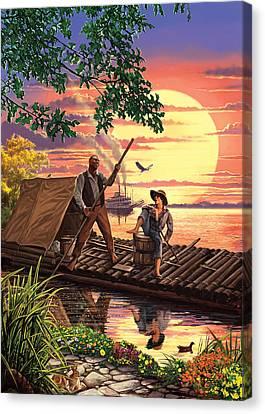 Huck Finn Variant 1 Canvas Print by Steve Crisp