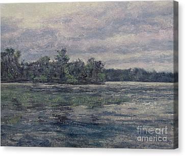 Hudson River Dusk Canvas Print by Gregory Arnett