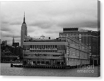 Hudson River Marine Aviation Pier 57 New York City Canvas Print by Joe Fox