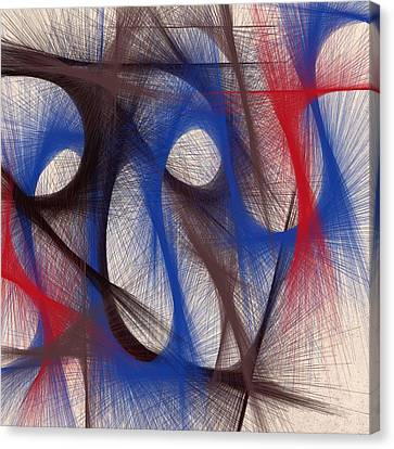 Hues Of Blue Canvas Print by Marian Palucci-Lonzetta
