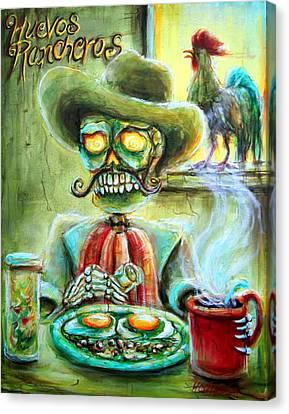 Huevos Rancheros Canvas Print by Heather Calderon