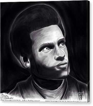 Huey P. Newton Of The Black Panther Party Canvas Print by Young CHOICE