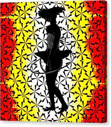 Hula Hoop Kaleidoscope Canvas Print by Amber Summerow