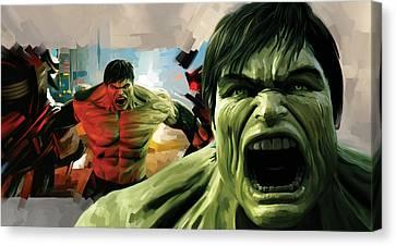 Hulk Artwork Canvas Print by Sheraz A