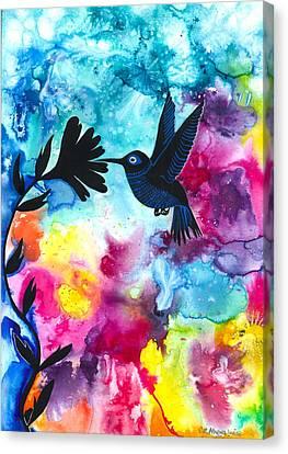 Hummingbird Canvas Print by Cat Athena Louise
