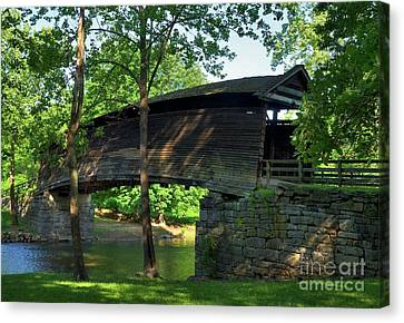Humpback Covered Bridge 2 Canvas Print by Mel Steinhauer