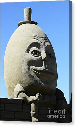 Humpty Dumpty Sand Sculpture Canvas Print by Bob Christopher