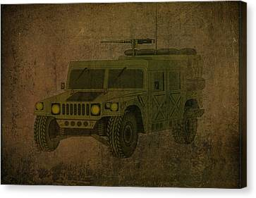 Humvee Midnight Desert  Canvas Print by Movie Poster Prints