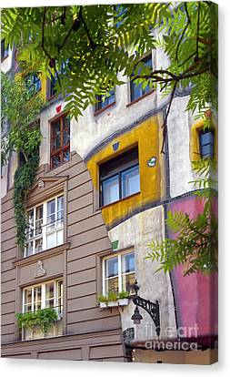 Hundertwasser House Canvas Print by Bob Phillips