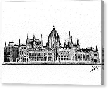 Hungarian Parliament Canvas Print by Joker Gallery