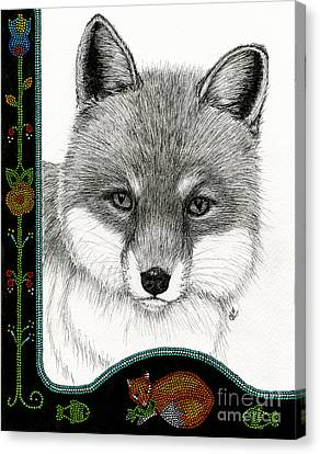 Hungry Fox Canvas Print by Christine Matha