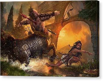Hunt The Hunter Canvas Print by Ryan Barger