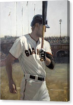 Hunter Pence On Deck Canvas Print by Darren Kerr