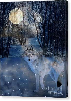 Hunter's Moon Canvas Print by Judy Wood