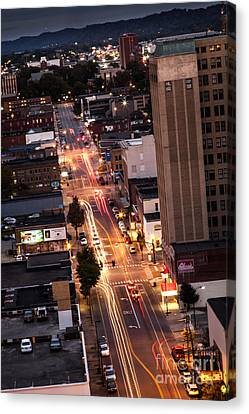 Huntington After Dark Canvas Print by Lee Wellman
