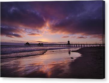 Huntington Beach California Canvas Print by Sean Foster