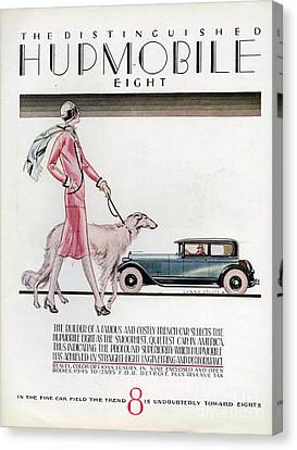 Hupmobile  1926 1920s Usa Cc Cars Dogs Canvas Print by The Advertising Archives