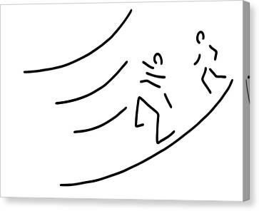 Hurdle-race Athletics Metres Run Canvas Print by Lineamentum