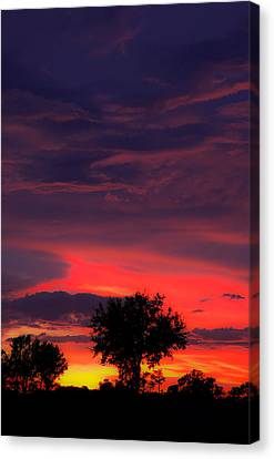 Huricane Sunset Canvas Print by Zachary Cox