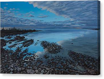 Huron Horizon Canvas Print by Michael Marcotte