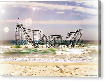 Hurricane Sandy Jetstar Roller Coaster Sun Glare Canvas Print by Jessica Cirz