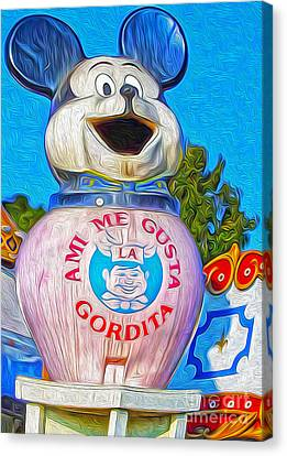 Husky Boy Mouse-cot Canvas Print by Gregory Dyer