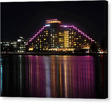 Hyatt Reflection Charles River Canvas Print by Toby McGuire