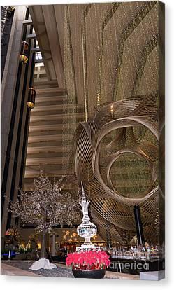 Hyatt Regency Hotel Embarcadero San Francisco California Dsc1975 Canvas Print by Wingsdomain Art and Photography