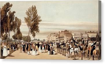 Hyde Park, Towards The Grosvenor Gate Canvas Print by Thomas Shotter Boys