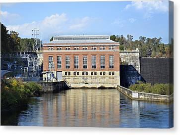 Hydroelectric Power Canvas Print by Susan Leggett