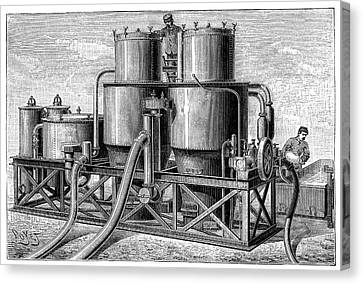 Hydrogen Gas Production Apparatus Canvas Print by Science Photo Library