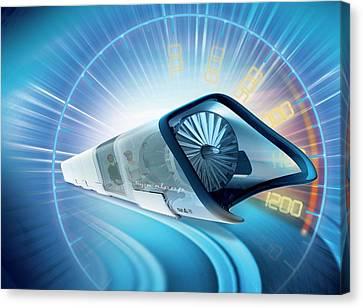 Hyperloop Train Canvas Print by Claus Lunau