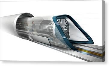 Hyperloop Transport Canvas Print by Claus Lunau