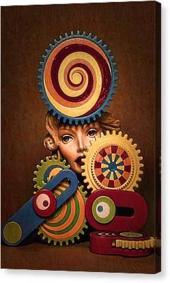 Hypnotic Woman 1 Canvas Print by Jeff  Gettis