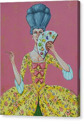 I Am Desirous Of Your Acquaintence-language Of The Fan Canvas Print by Beth Clark-McDonal