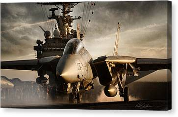 I Am Legend F-14 Canvas Print by Peter Chilelli