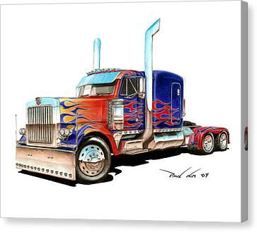 I Am Optimus Prime Canvas Print by Paul Kim